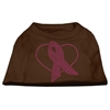 Mirage Pet Products Pink Ribbon Rhinestone Shirts Brown Lg (14)