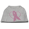 Mirage Pet Products Pink Ribbon Rhinestone Shirts Grey XS (8)