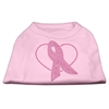 Mirage Pet Products Pink Ribbon Rhinestone Shirts Light Pink XXL (18)