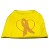 Mirage Pet Products Pink Ribbon Rhinestone Shirts Yellow Sm (10)