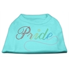 Mirage Pet Products Rainbow Pride Rhinestone Shirts Aqua XS (8)