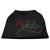 Mirage Pet Products Rainbow Pride Rhinestone Shirts Black XXXL(20)