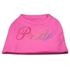 Mirage Pet Products Rainbow Pride Rhinestone Shirts Bright Pink XXXL(20)