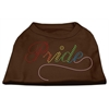 Mirage Pet Products Rainbow Pride Rhinestone Shirts Brown XS (8)