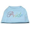 Mirage Pet Products Rainbow Pride Rhinestone Shirts Baby Blue XXXL(20)