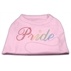 Mirage Pet Products Rainbow Pride Rhinestone Shirts Light Pink XXXL(20)