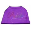 Mirage Pet Products Rainbow Pride Rhinestone Shirts Purple XXL (18)