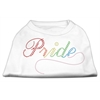 Mirage Pet Products Rainbow Pride Rhinestone Shirts White XXXL(20)