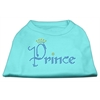 Mirage Pet Products Prince Rhinestone Shirts Aqua XXL (18)