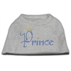 Mirage Pet Products Prince Rhinestone Shirts Grey XXXL(20)