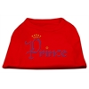Mirage Pet Products Prince Rhinestone Shirts Red XXXL(20)