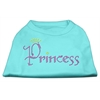 Mirage Pet Products Princess Rhinestone Shirts Aqua XXXL(20)