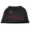 Mirage Pet Products Princess Rhinestone Shirts Black XXXL(20)