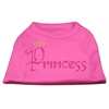 Mirage Pet Products Princess Rhinestone Shirts Bright Pink XXXL(20)