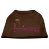 Mirage Pet Products Princess Rhinestone Shirts Brown Lg (14)