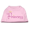 Mirage Pet Products Princess Rhinestone Shirts Light Pink XXXL(20)