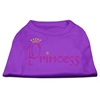 Mirage Pet Products Princess Rhinestone Shirts Purple XXXL(20)