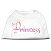 Mirage Pet Products Princess Rhinestone Shirts White XXXL(20)
