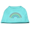 Mirage Pet Products Rhinestone Rainbow Shirts Aqua XL (16