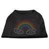 Mirage Pet Products Rhinestone Rainbow Shirts Black XL (16
