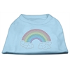 Mirage Pet Products Rhinestone Rainbow Shirts Baby Blue XL (16