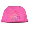 Mirage Pet Products Rhinestone Rainbow Flower Peace Sign Shirts Bright Pink XXXL(20)
