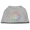 Mirage Pet Products Rhinestone Rainbow Flower Peace Sign Shirts Grey XXXL(20)