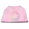 Mirage Pet Products Rhinestone Rainbow Flower Peace Sign Shirts Light Pink XXXL(20)