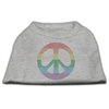 Mirage Pet Products Rhinestone Rainbow Peace Sign Shirts Grey L (14)