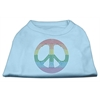 Mirage Pet Products Rhinestone Rainbow Peace Sign Shirts Baby Blue XXL (18)