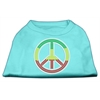 Mirage Pet Products Rasta Peace Sign Shirts Aqua XXXL(20)