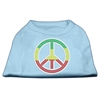 Mirage Pet Products Rasta Peace Sign Shirts Baby Blue XXXL(20)