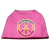 Mirage Pet Products Rasta Peace Sign Shirts Bright Pink XS (8)