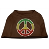 Mirage Pet Products Rasta Peace Sign Shirts Brown Lg (14)