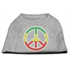 Mirage Pet Products Rasta Peace Sign Shirts Grey XXL (18)