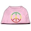 Mirage Pet Products Rasta Peace Sign Shirts Light Pink XXXL(20)
