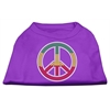 Mirage Pet Products Rasta Peace Sign Shirts Purple S (10)