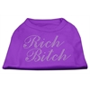 Mirage Pet Products Rich Bitch Rhinestone Shirts Purple XXXL(20)