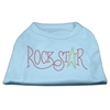 Mirage Pet Products RockStar Rhinestone Shirts Baby Blue XXXL(20)