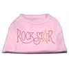 Mirage Pet Products RockStar Rhinestone Shirts Light Pink XXXL(20)