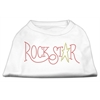 Mirage Pet Products RockStar Rhinestone Shirts White XXXL(20)