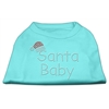 Mirage Pet Products Santa Baby Rhinestone Shirts  Aqua XXXL (20)
