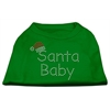 Mirage Pet Products Santa Baby Rhinestone Shirts Emerald Green XXXL (20)