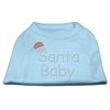 Mirage Pet Products Santa Baby Rhinestone Shirts  Baby Blue XXL (18)