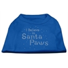 Mirage Pet Products I Believe in Santa Paws Shirt Blue Lg (14)