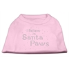 Mirage Pet Products I Believe in Santa Paws Shirt Light Pink M (12)