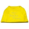 Mirage Pet Products I Believe in Santa Paws Shirt Yellow Sm (10)