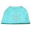 Mirage Pet Products Snowflake Rhinestone Shirt  Aqua XXXL(20)