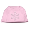 Mirage Pet Products Snowflake Rhinestone Shirt  Light Pink XL (16)
