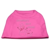 Mirage Pet Products Snowman's Best Friend Rhinestone Shirt Bright Pink XL (16)